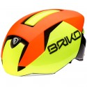 Casco ciclismo Briko Gass giallo-arancione