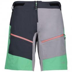 Pantaloncino ciclismo Cmp Free Bike Donna nero-verde-grigio