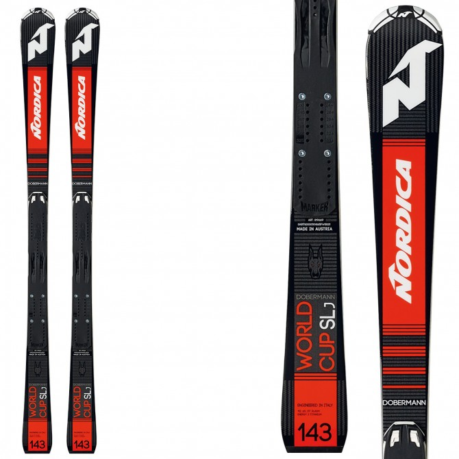 Esquí Nordica Dobermann Slj + fijaciones Race 10