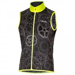 Chaleco ciclismo Zero Rh+ Emergency Pocket Unisex gris-amarillo