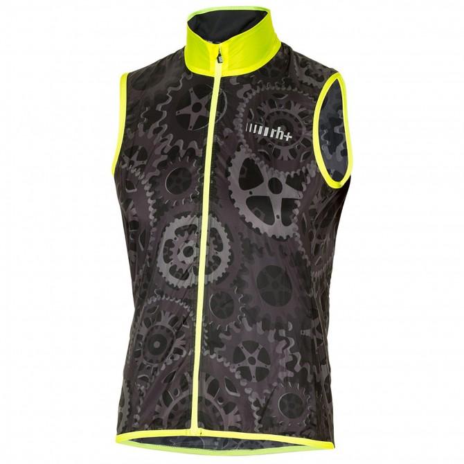 Gilet cyclisme Zero Rh+ Emergency Pocket Unisex gris-jaune