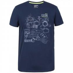 T-shirt trekking Icepeak Silas Uomo blu