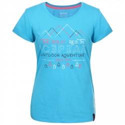 T-shirt trekking Icepeak Stacy Mujer turquesa