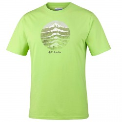 T-shirt trekking Columbia Mountain Sunset Uomo blu