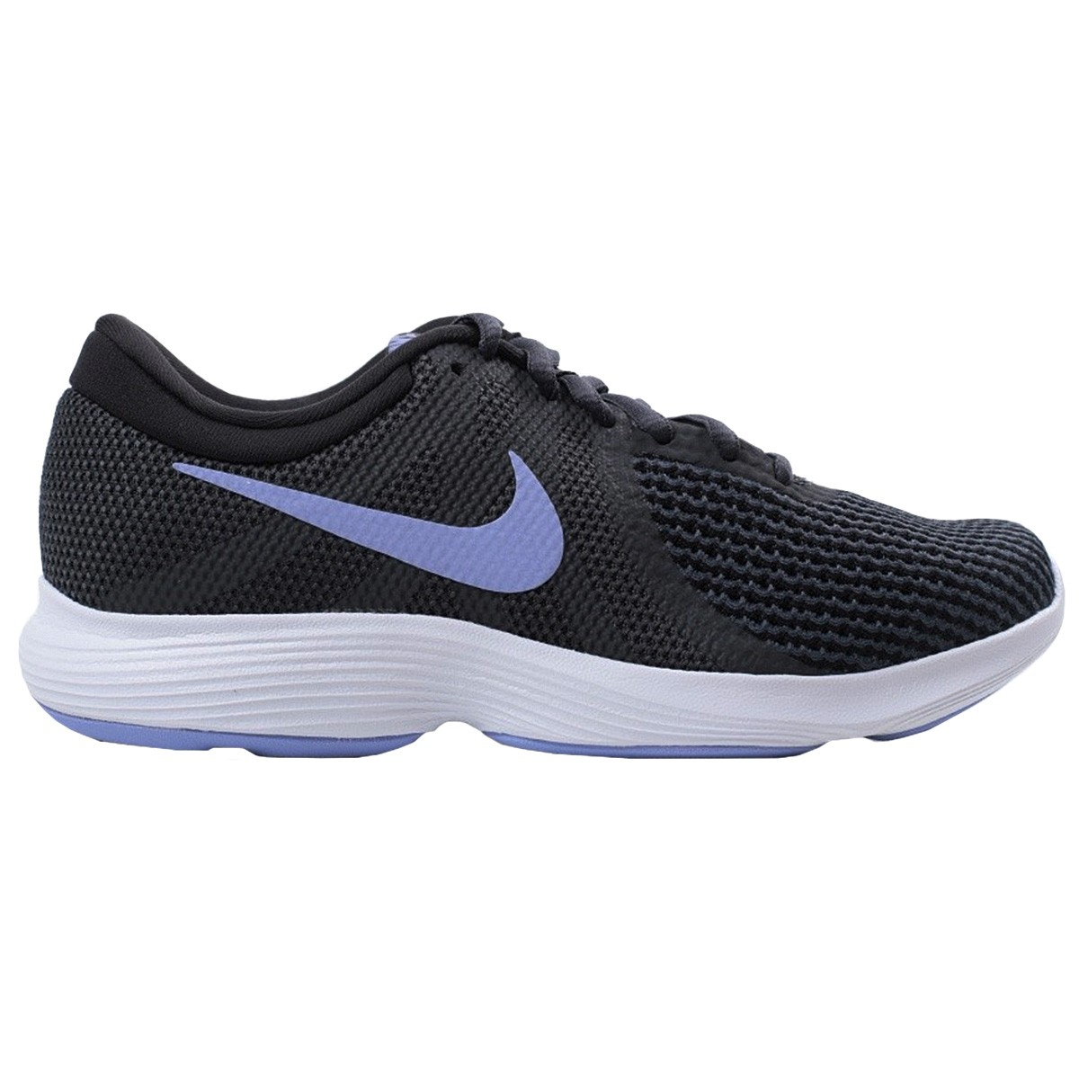 Purple And Black Running Shoes For Woman