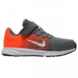 Sneakers Nike Downshifter 8 Garçon gris-orange