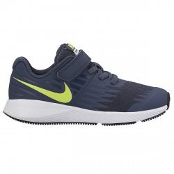 Zapatillas running Nike Star Runner Niño azul-lime (19-27)