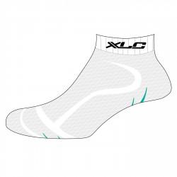 Calze ciclismo XLC Footie CS-S02 bianco-verde