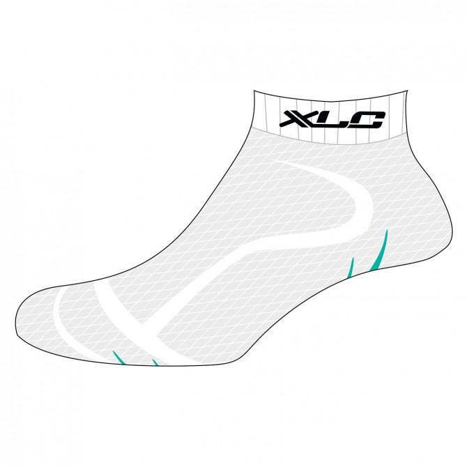 Chaussettes XLC Footie CS-S02 blanc-vert