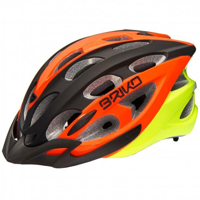 Casco ciclismo Briko Quarter nero-arancione-giallo BRIKO Caschi