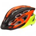Casco ciclismo Briko Quarter negro-naranja-amarillo