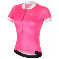 Jersey ciclismo Zero Rh+ College Mujer fucsia