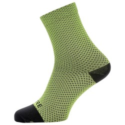 Calcetines ciclismo Gore C3 Dot Mid negro-lime
