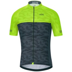 Mailot cyclisme Gore C3 Cameleon Homme lime