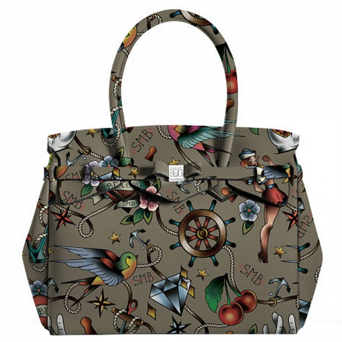 Borsa Save My Bag Miss Tattoo Kaki