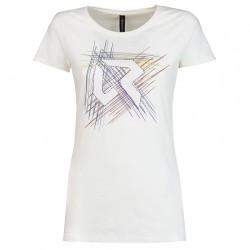 T-shirt trekking Rock Experience Line Femme blanc