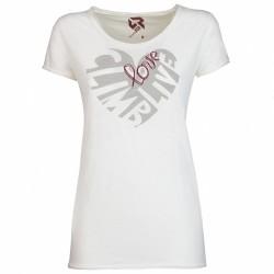 T-shirt trekking Rock Experience Seal Femme blanc
