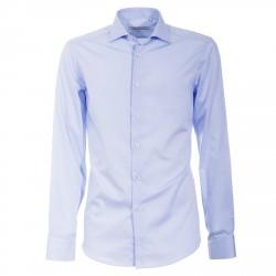 Chemise Canottieri Portofino 002 slim fit Homme bleu clair