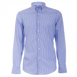 Camicia Canottieri Portofino 021 slim fit Uomo azzurro-bianco