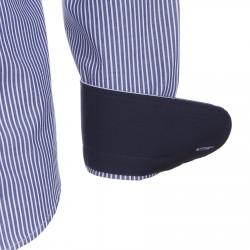 Chemise Canottieri Portofino 021 slim fit Homme bleu-blanc