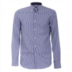 Camisa Canottieri Portofino 021 slim fit Hombre azul-blanco