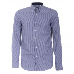 Shirt Canottieri Portofino 021 slim fit Man blue-white