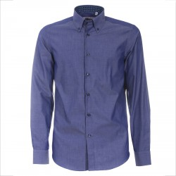 Shirt Canottieri Portofino 021 slim fit Man blue