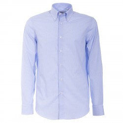 Camicia Canottieri Portofino 022 slim fit Uomo azzurro