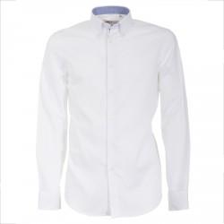 Camisa Canottieri Portofino 105 slim fit Hombre blanco