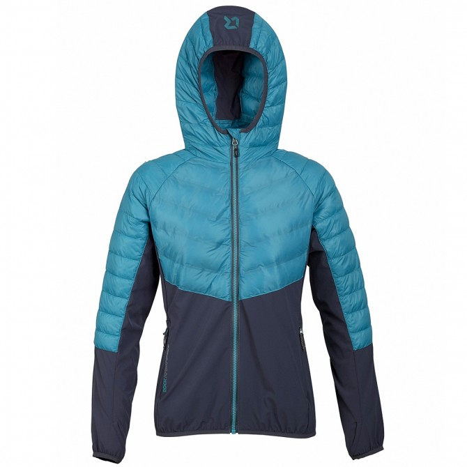 Trekking jacket Rock Experience Platinum Woman teal