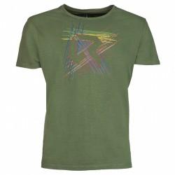 T-shirt trekking Rock Experience Line Homme vert