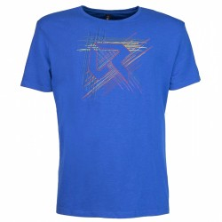 Trekking t-shirt Rock Experience Line Man royal