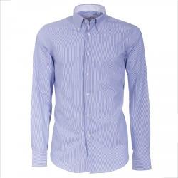 Camicia Canottieri Portofino A05 regular fit Uomo bianco-azzurro