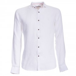 Shirt Canottieri Portofino in linen Man white
