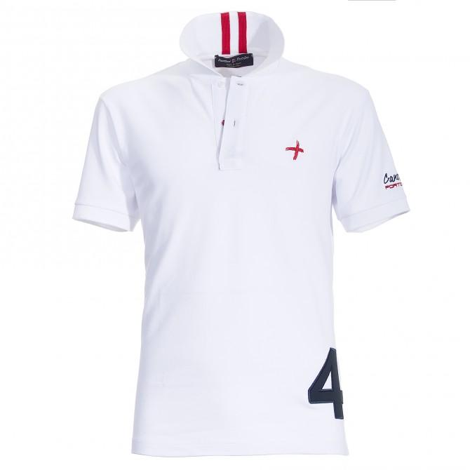Polo Canottieri Portofino 140 Coach with number Man white
