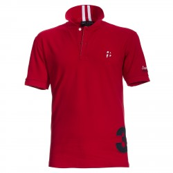 Polo Canottieri Portofino 140 Coach with number Man red