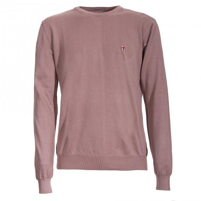 Suéter Canottieri Portofino A18 cuello redondo Hombre rosa