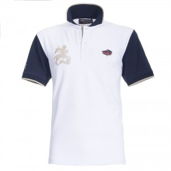 Polo Canottieri Portofino 120 Gold Man white