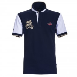 Polo Canottieri Portofino 120 Gold Man blue