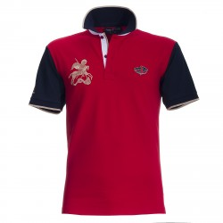 Polo Canottieri Portofino 120 Gold Man red