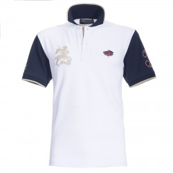Polo Canottieri Portofino 120 Gold 3 Man white