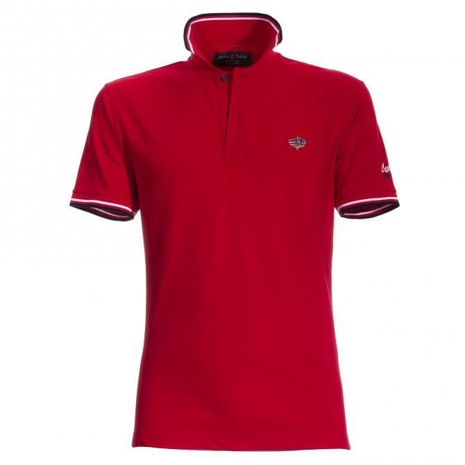 Polo Canottieri Portofino 100 Logo Uomo rosso