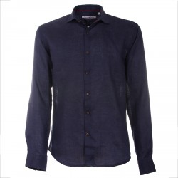Camisa Canottieri Portofino de lino Hombre navy