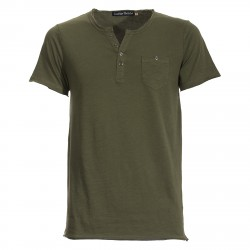 T-shirt Canottieri Portofino with buttons Man green