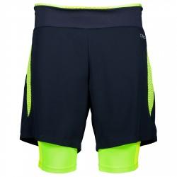 Shorts running 2 en 1 Cmp Hombre negro