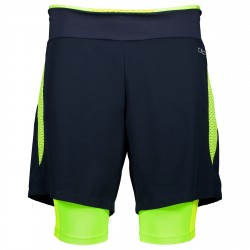 Shorts running 2 in 1 Cmp Uomo nero