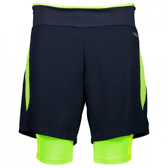 Shorts running 2 in 1 Cmp Uomo nero