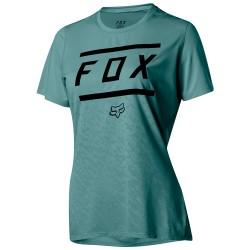 T-shirt ciclismo Fox Ripley Bars Mujer verde