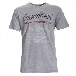 T-shirt Canottieri Portofino Prua Hombre gris