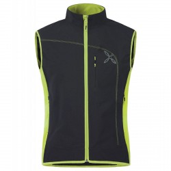 Gilet running Montura Power Uomo nero-verde